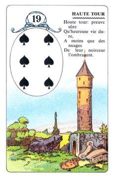 Колода Ленорман - карта башня