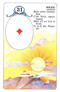 Колода Ленорман - карта солнце