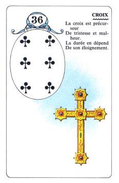 Колода Ленорман - карта крест