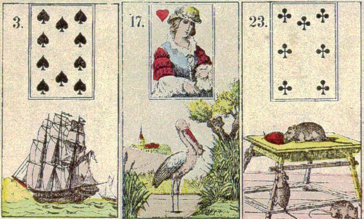 3 карты из малой колоды Ленорман
